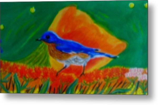 Eastern Bluebird Metal Print by Annette Stovall