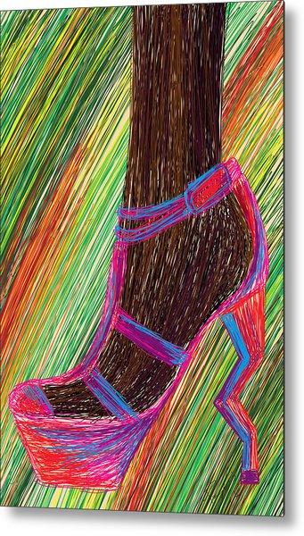 Ebony In High Heels Metal Print by Kenal Louis
