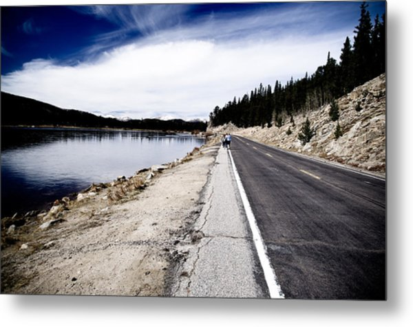 Echo Lake Road Metal Print by Sam Neumann