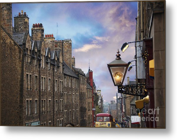 Edinburgh Mile Metal Print