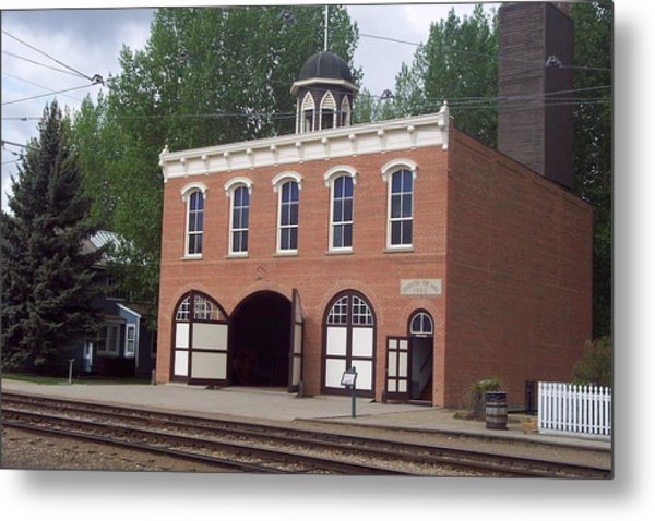 Edmonton Fire Station Metal Print by Dart Wooden