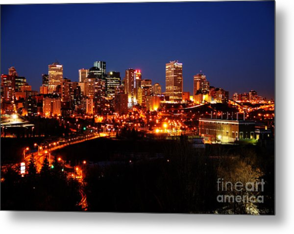 Edmonton Skyline Metal Print by Rachel Duchesne