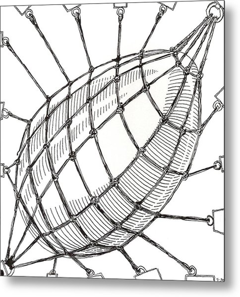 Egg Drawing 049618 Metal Print