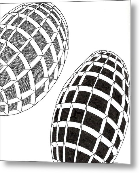 Egg Drawing 060026 Metal Print