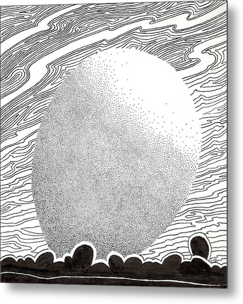 Egg Drawing 069827 Metal Print