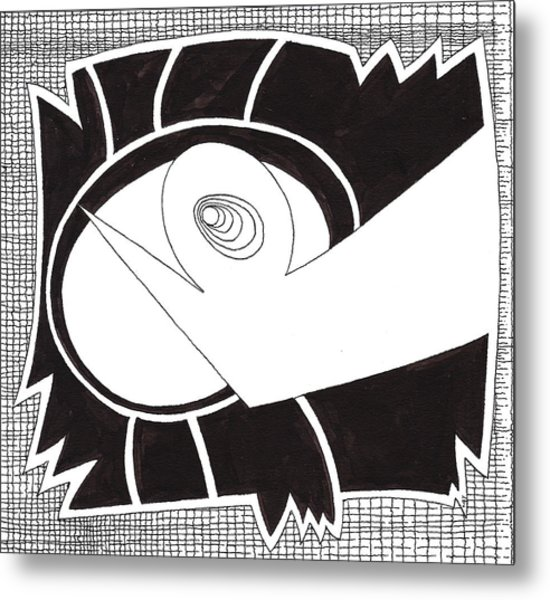 Egg Drawing 079725 Metal Print