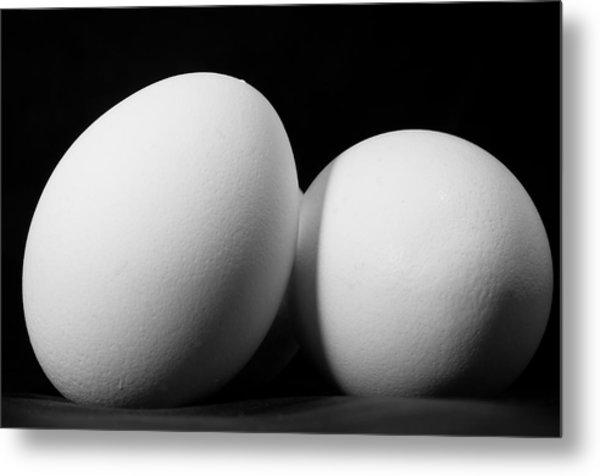 Eggs In Black And White Metal Print