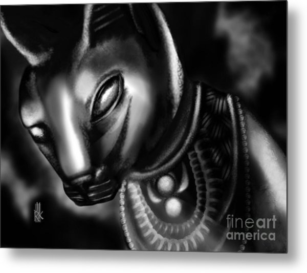 Egyptian Cat II Metal Print