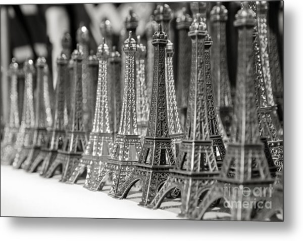 Eiffel Tower Miniature Metal Print