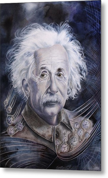 Einstein Metal Print by Tanya Jacobsz
