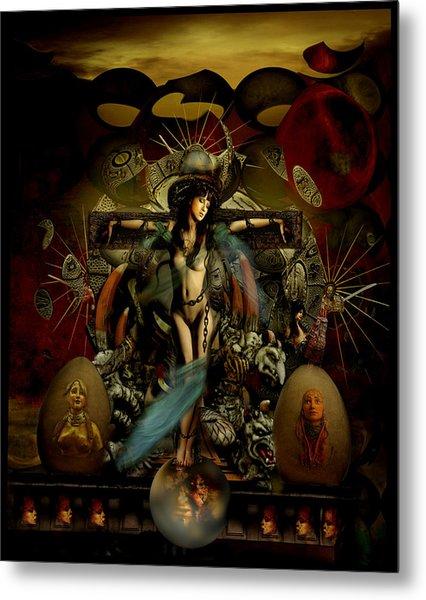 El Templo Metal Print by Raul Villalba