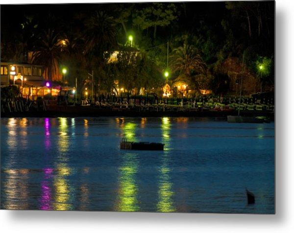 Elba Island - Night Sea Reflections - Ph Enrico Pelos Metal Print