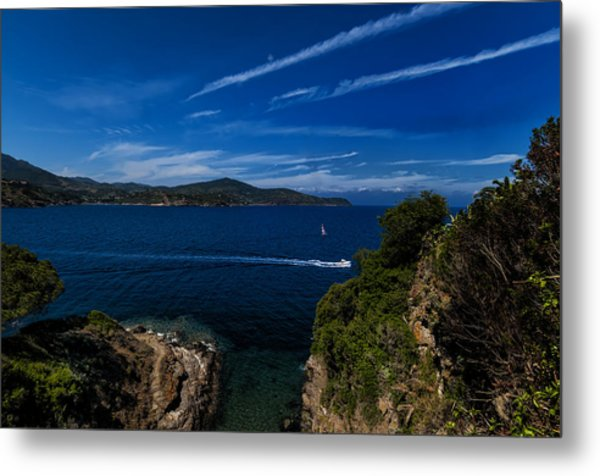 Elba Island - Blue And Green 1 - Blu E Verde 1 - Ph Enrico Pelos Metal Print