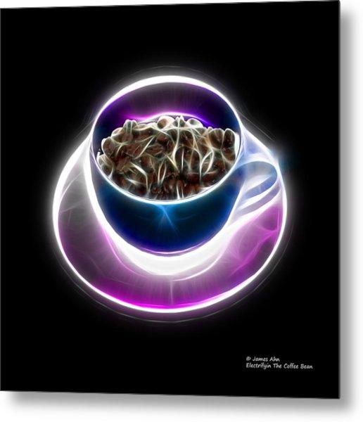 Electrifyin The Coffee Bean -version Blue Metal Print