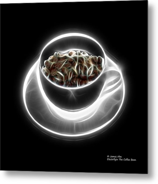 Electrifyin The Coffee Bean -version Greyscale Metal Print
