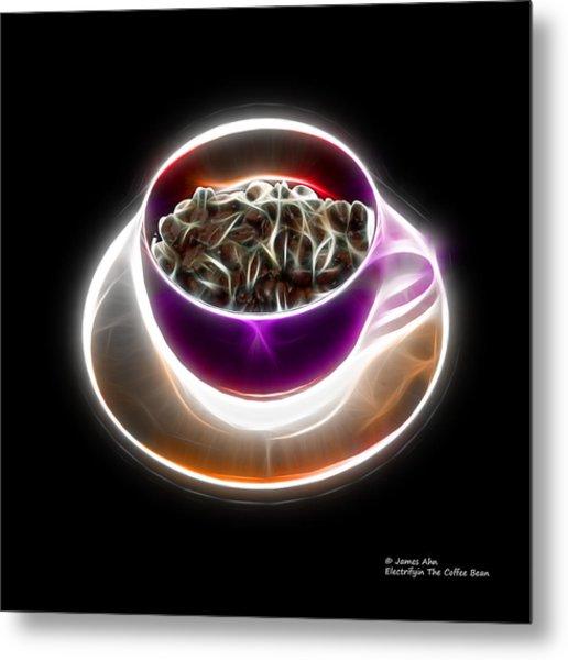 Electrifyin The Coffee Bean -version Violet Metal Print