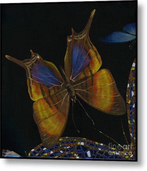 Elena Yakubovich - Butterfly 2x2 Top Left Corner Metal Print
