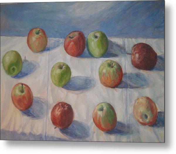 Eleven Apples Metal Print
