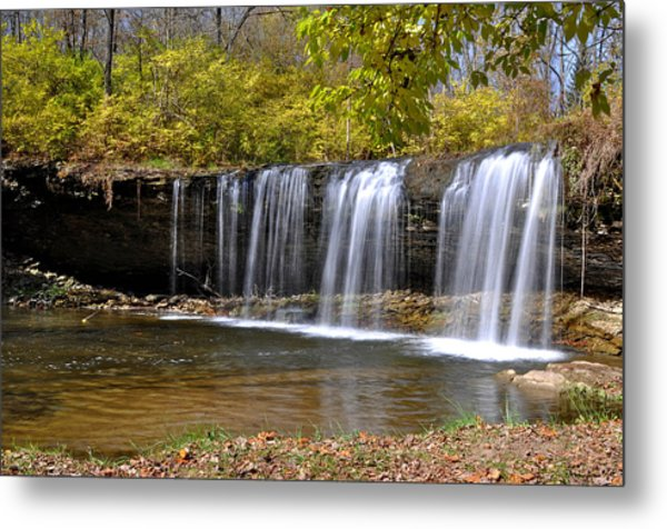 Elkhorn Falls Wayne County Indiana Metal Print by Marsha Williamson Mohr