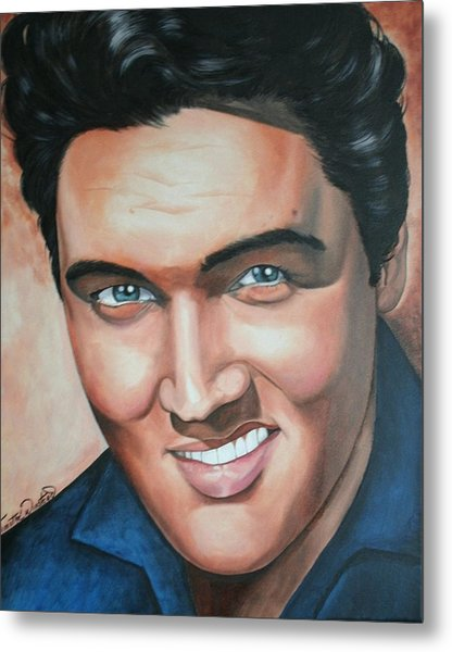 Elvis Presley Metal Print by Timothe Winstead