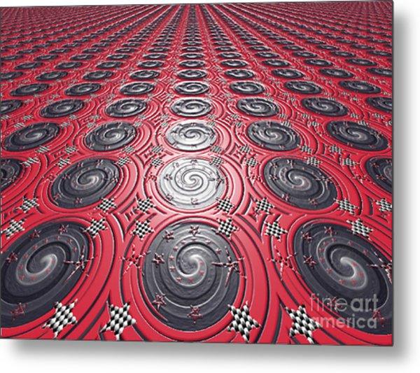 Embossed Record Tiles Metal Print by Jeannie Atwater Jordan Allen