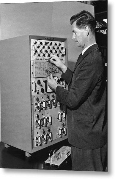 Emiac Mainframe Metal Print by Archive Photos