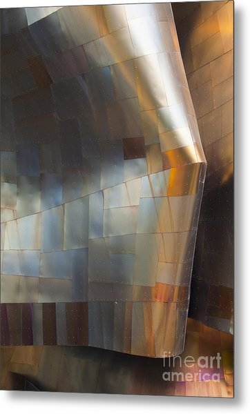 Emp Abstract Fold Metal Print