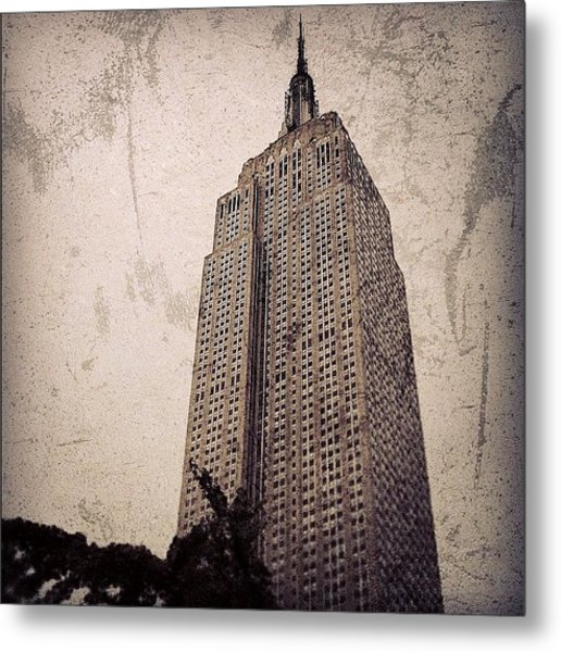 Empire State Building - New York Metal Print