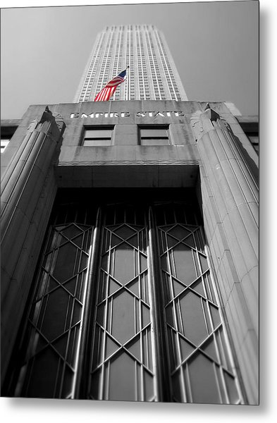 Empire State Building Metal Print by Heather Samson