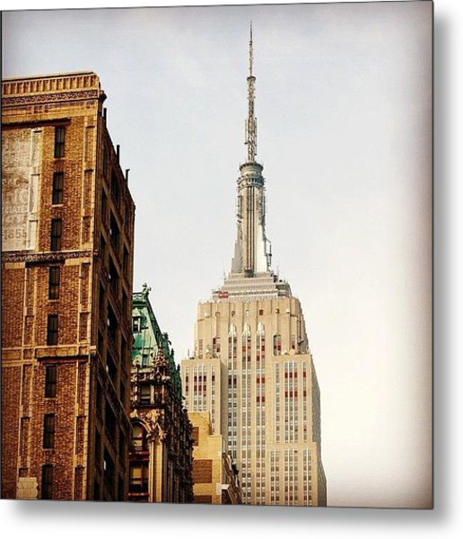 Empire State Building Ny Metal Print