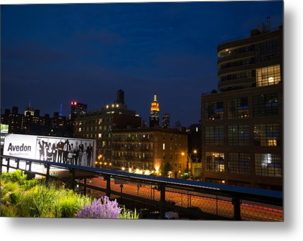Empire State From High Line Metal Print by John Dryzga