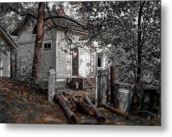 Empty And Abandoned Metal Print