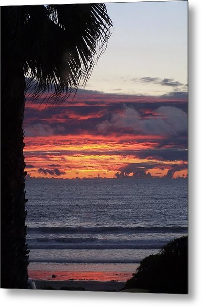 Encinitas Sunset Metal Print