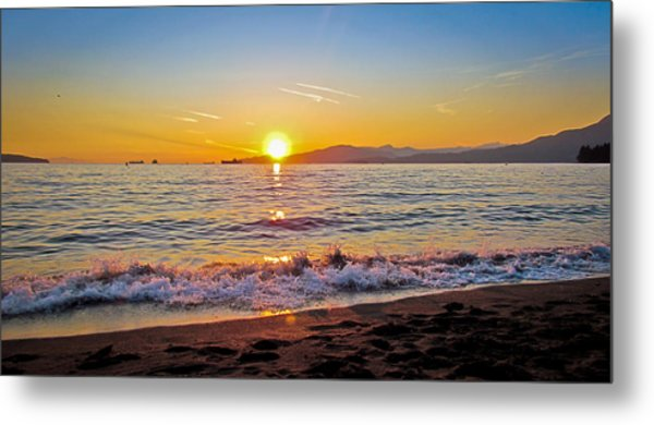 English Bay - Beach Sunset Metal Print