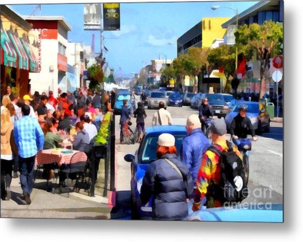 Enjoying The Day At San Francisco Fishermans Wharf . 7d14485 Metal Print by Wingsdomain Art and Photography