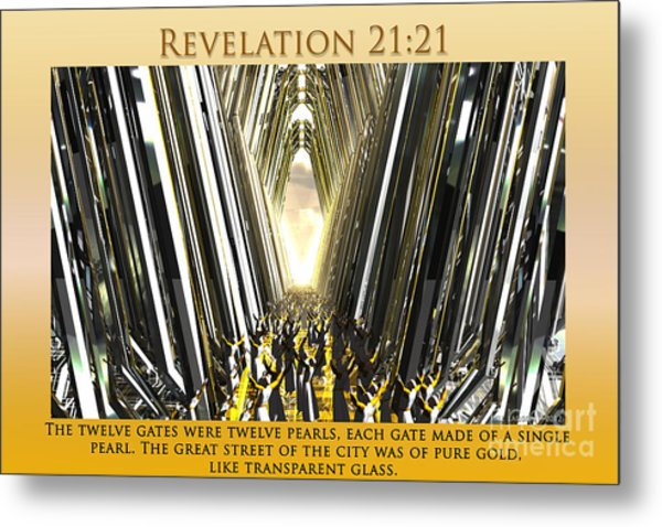 Enter Into Heaven's Gate Metal Print