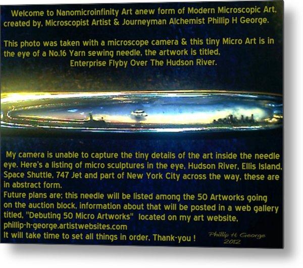 Enterprise Flyby Over The Hudson River  Metal Print