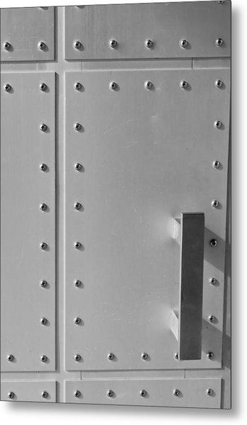 Entrance Secured Metal Print