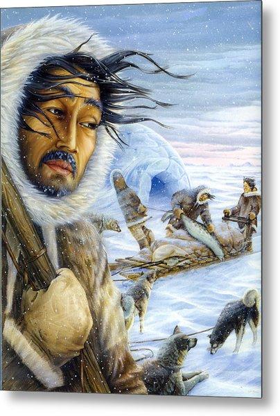 Eskimo Hunt Metal Print