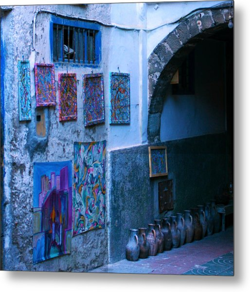 Essaouira Blue Moroccan Metal Print
