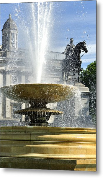 Essential Elements Of Trafalgar Square Metal Print by Vicki Jauron