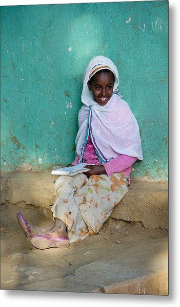 Ethiopia-south School Girl Metal Print