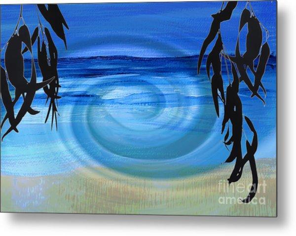 Eucalyptus Ocean View Metal Print