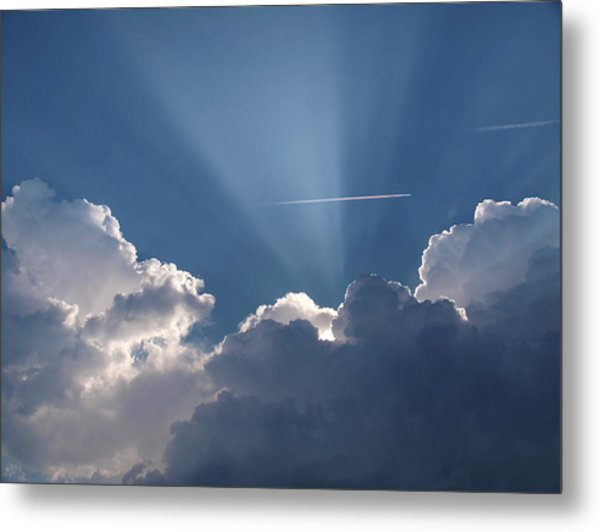 Even Through The Clouds You Will Find A Ray Of Sunshine Metal Print