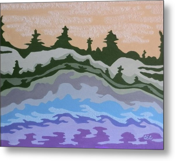 Evening Impressions Metal Print by Carolyn Cable