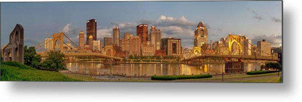 Evening Panorama Metal Print by Jennifer Grover