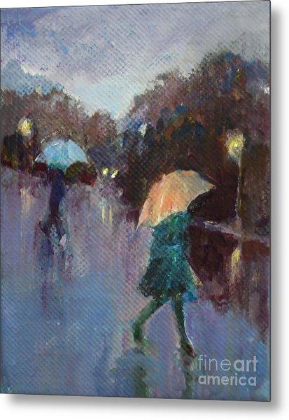 Evening Rain Metal Print