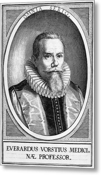 Everardus Vorstius, Dutch Physician Metal Print by Middle Temple Library