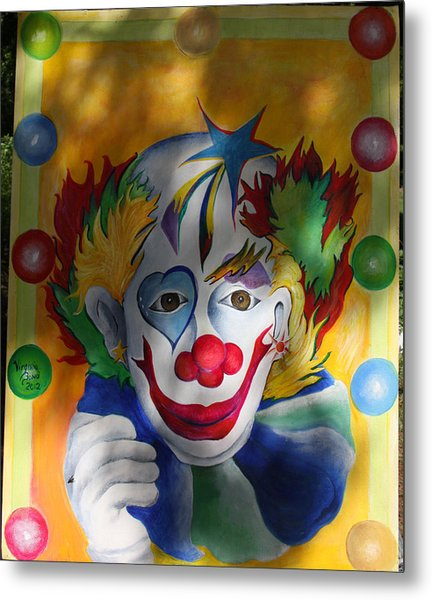 Everybody Loves A Clown Metal Print