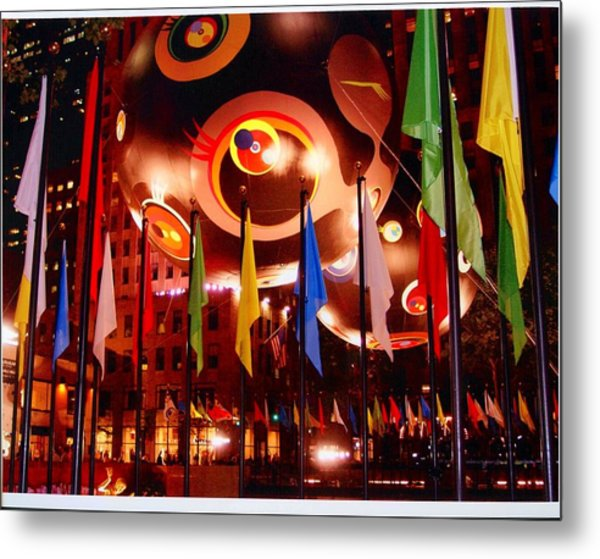 Exhibit At Rockefeller Center Metal Print by Alton  Brothers
